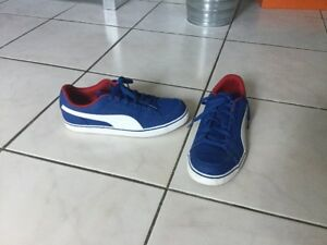 Baskets PUMA pointure 39 bleu electrique comme neuves