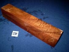 Nussbaum Kantel drechseln schreinern schnitzen  300 x 53 x 53 mm   Nr . 598