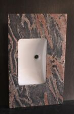 """Single Rectangular Sink Multicolored Red Granite Top 49"""" For 4"""" Spread Faucet"""