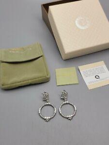 New JUDITH RIPKA Sterling Silver 925 Earrings Diamonique Omega Back