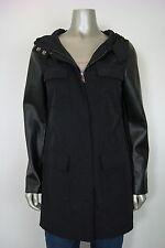 Alfani Women's Petite Zip Up Winter Hooded Coat in Black PS