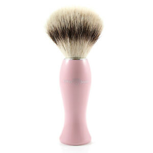 Edwin Jagger - Pink Shaving Brush with Synthetic Silver Tip in Gift Box