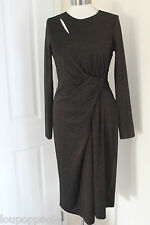 size 12 R black dress with gold glitter tread throughout marks and spencer