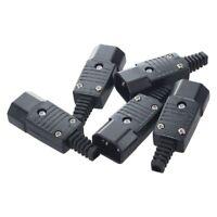 5Pcs AC250V 10A Male 3 Terminals Panel IEC320 C14 Socket Adapter Connector X5V4