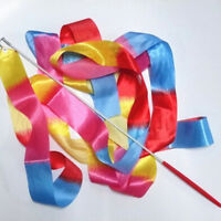4m Kids Dance Ribbon Gym Rhythmic Art Gymnastic Ballet Streamer Twirling Rod HV