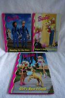 3 Barbie Learn to Read books Shooting for the stars Girl's Best Friend Hardbacks