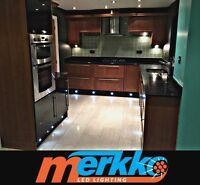 LED Kitchen Plinth Lights Kickboard/Recessed 1 watt BRIGHT in Blue/Cool White