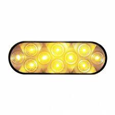 UNITED PACIFIC 38777B - 10 LED Oval Turn Signal Light - Amber LED/Clear Lens