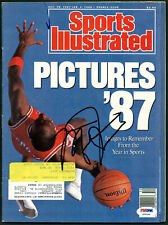 Bulls Michael Jordan Authentic Signed 1987 Sports Illustrated PSA/DNA #Z04244