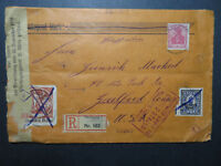 Germany 1920s Bavarian Censored Cover to USA / Light Horiz Fold - Z10790