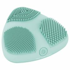 True Glow by Conair Skinpod Silicone Facial Cleansing Brush with Three Brush ...