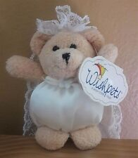 Wishpets Bridal Wedding Bear Bride Bean
