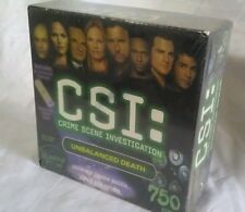 2004 CSI Crime Scene Investigation Unbalanced Death w/ Cool UV Flashlight Sealed