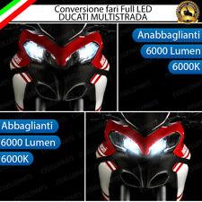 CONVERSIONE FARO LED DUCATI MULTISTRADA 950 1200 ANABBAGLIANTE + ABBAGLIANTI