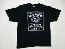 New listing Brad Paisley Alcohol Some Of The Best Times Mens XL Tshirt Black Country Cowboy