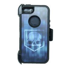 Blue Skull iPhone 5S / SE Defender Case w/ Belt Holster Clip fits Otterbox