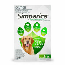 Zoetis Simparica Flea Prevention Chews for Dogs 20 to 40 Kg - 6 Pack