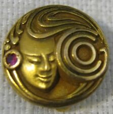 "1960s-70s ""G Co"" Circles Logo Dieges & Clust 1/10 10K GF RUBY 5 YEAR SERVICE PIN"