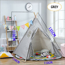 Teepee Tent Kids Children Portable Playhouse Sleeping Backdrop Camping