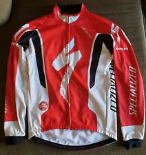 Specialized Long Sleeve Thermal Gore Wind Stopper Jersey Men's XL Red & White