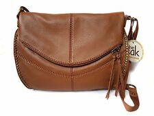 The Sak Silverlake Genuine Leather Crossbody Messenger Handbag Tabaco MSRP $199