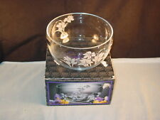 "CRYSTAL CLEAR INDUSTRIES SERVING BOWL ""IRIS FROST"" PATTERN NEW IN BOX"