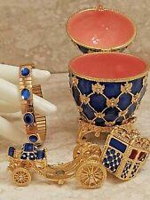 Empress Carriage Faberge Egg Russian Fabrege Ornament Set 24K Gold gift women