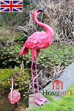 100 cm Metal Pink Garden Pond Flamingo Party Ornaments Decoration free standing.