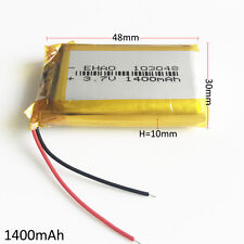 1400mAh 3.7V LiPo polymer rechargeable Battery 103048 For DVD GPS PAD CAMERA PSP