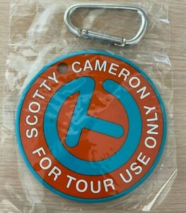Scotty Cameron Orange Turquoise Circle T For Tour Use Only Putting Disc Bag Tag