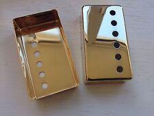1x Epi/Gibson Bridge/Neck Position Metal Humbucker Cover 50mm in Gold Chrome