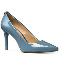 BRAND NEW MICHAEL KORS Size 11M Pale Blue Leather High Heel Pumps Shoes