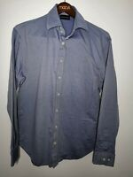 Emporio Armani Long Sleeve Shirt Men's Size 17- 43 Blue Great Condition