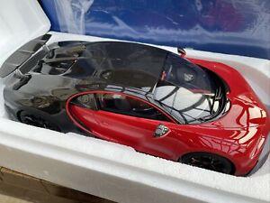 BUGATTI CHIRON SPORT resin model car BOX red black 2019 1:12th KYOSHO KSR08667R