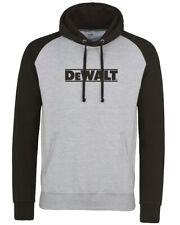 DeWalt Black / Grey Logo Hoodie Sweater Top Sizes S - 2XL Power Tool Work Wear