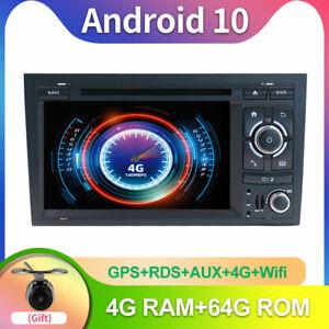 Autoradio 4GB+64GB Android 10 Per Audi A4 B7 S4 RS4 2003-2011 GPS Navi DAB Wifi