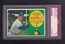 1960 Topps # 321 Ron Fairly Dodgers Rookie RC Dodgers EX PSA 5 New Case