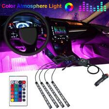 LED Car Interior Decor Neon Atmosphere Light Strip Remote Control Control Color