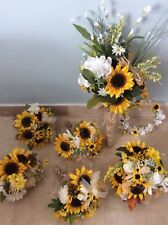 Reduced wedding flowers bridal bouquet decorations SUNFLOWERS you add colors