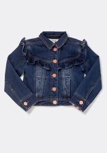 NWT Girls Matilda Jane Collins Ruffle Denim Jacket Size 8