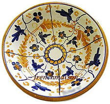 Italian Florence Handcrafted Handpainted Ceramic Small Olive/Condiment Dish Bowl