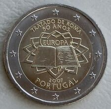 2 euro Portugal 2007 los Tratados de Roma unz