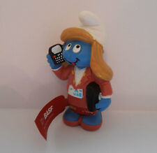 BASF SMURFETTE PROMO VERY RARE SMURF WITH TAG FROM THE SCHLEICH SMURFS  BASF06