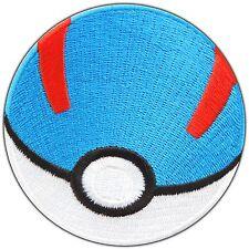 Pokemon Great Ball Cartoon Pikachu Go Poke Game Monster Iron on Patches #0970