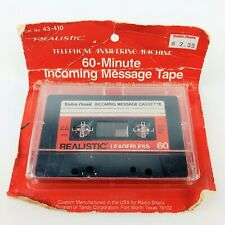 Realistic 60 Minute Leaderless Incoming Message Cassette Tape 43-410