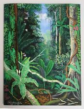 Original Aquarell des Malers C. Marin Wellington-Schüler von Pablo Amaringo,Peru