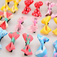 10Pcs Toddler cute Girl Hair Clip Ribbon Bow Baby Kids Satin Bowknot Headband I
