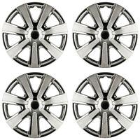 4 x Radkappen 16 Zoll schwarz chrom Radblende für Stahlfelgen für Audi 85BC