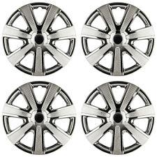 4 x Radkappen 15 Zoll schwarz Chrom Rad Blende für Stahlfelgen Renault 85BC
