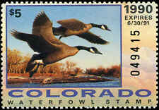 COLORADO #1 1990 STATE DUCK CANADA GOOSE by Robert Steiner